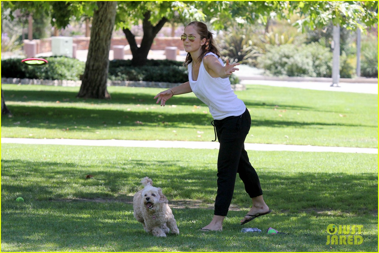 minka kelly chewy playing in the park 162689977