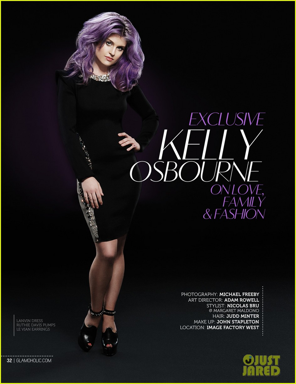 kelly osbourne covers glamoholic anniversary issue 06