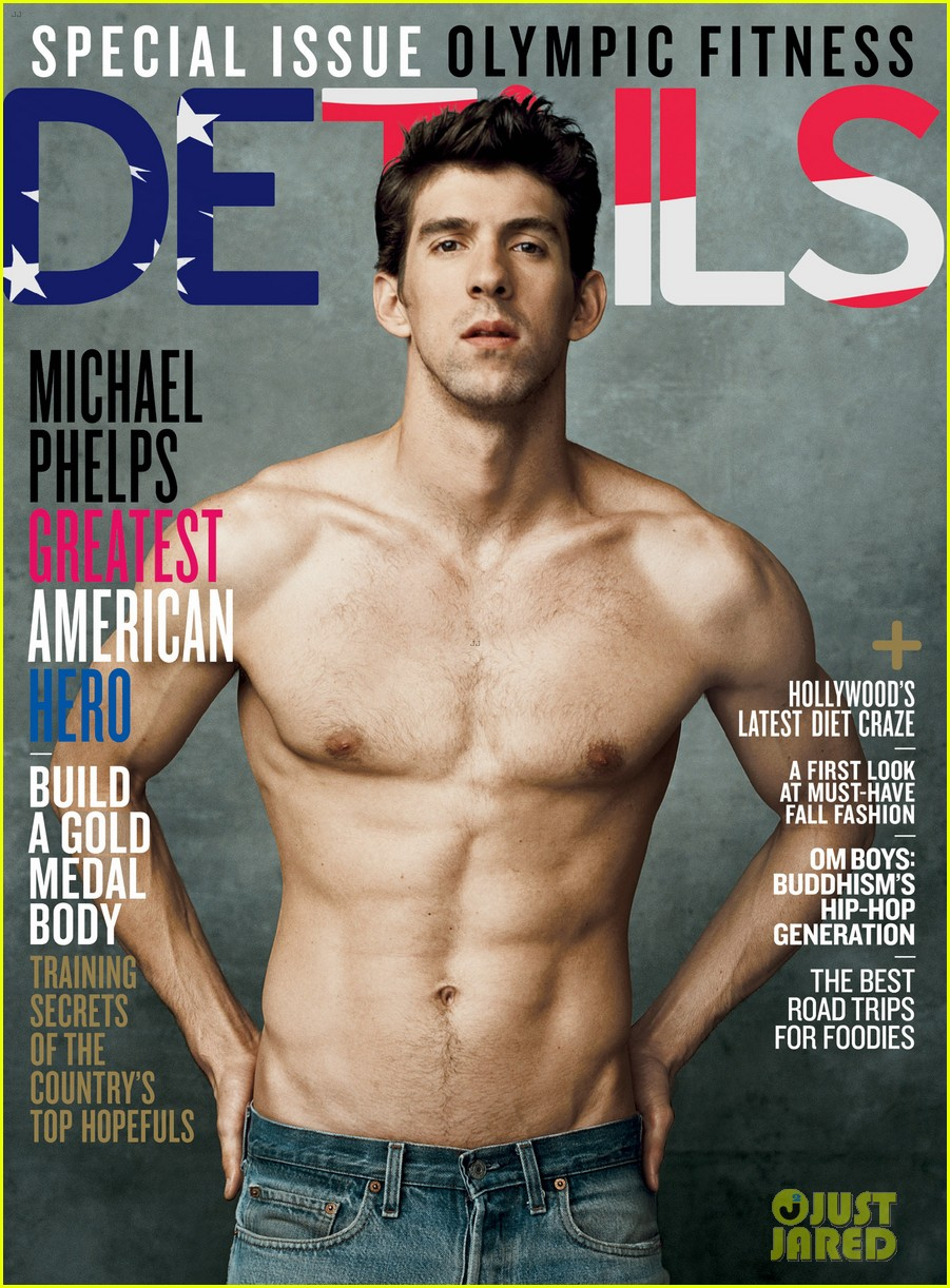 michael phelps shirtless on details olympics issue 012685049