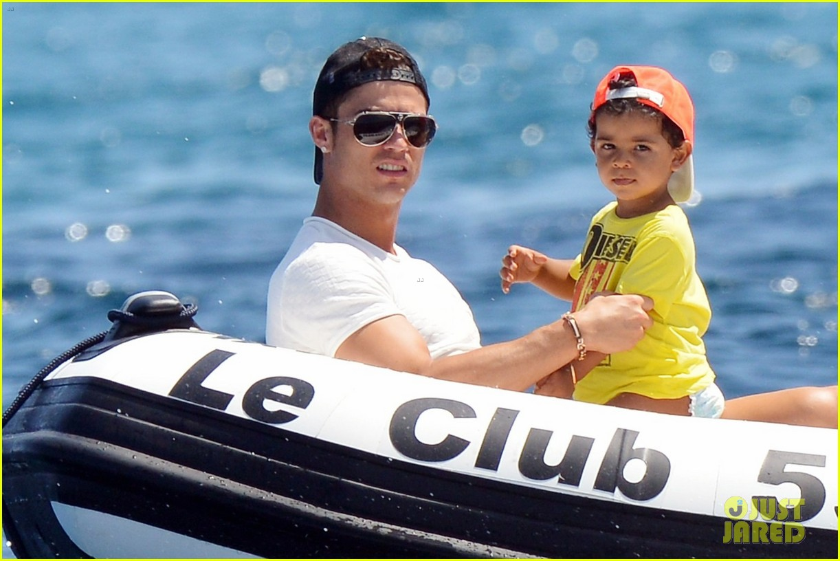 cristiano ronaldo yacht ride cristiano jr irina shayk 042682654