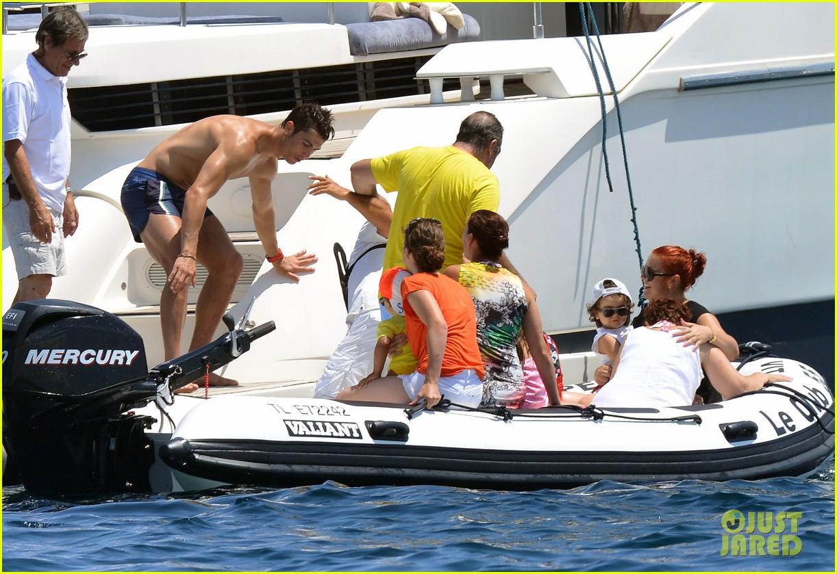 cristiano ronaldo yacht ride cristiano jr irina shayk 112682661