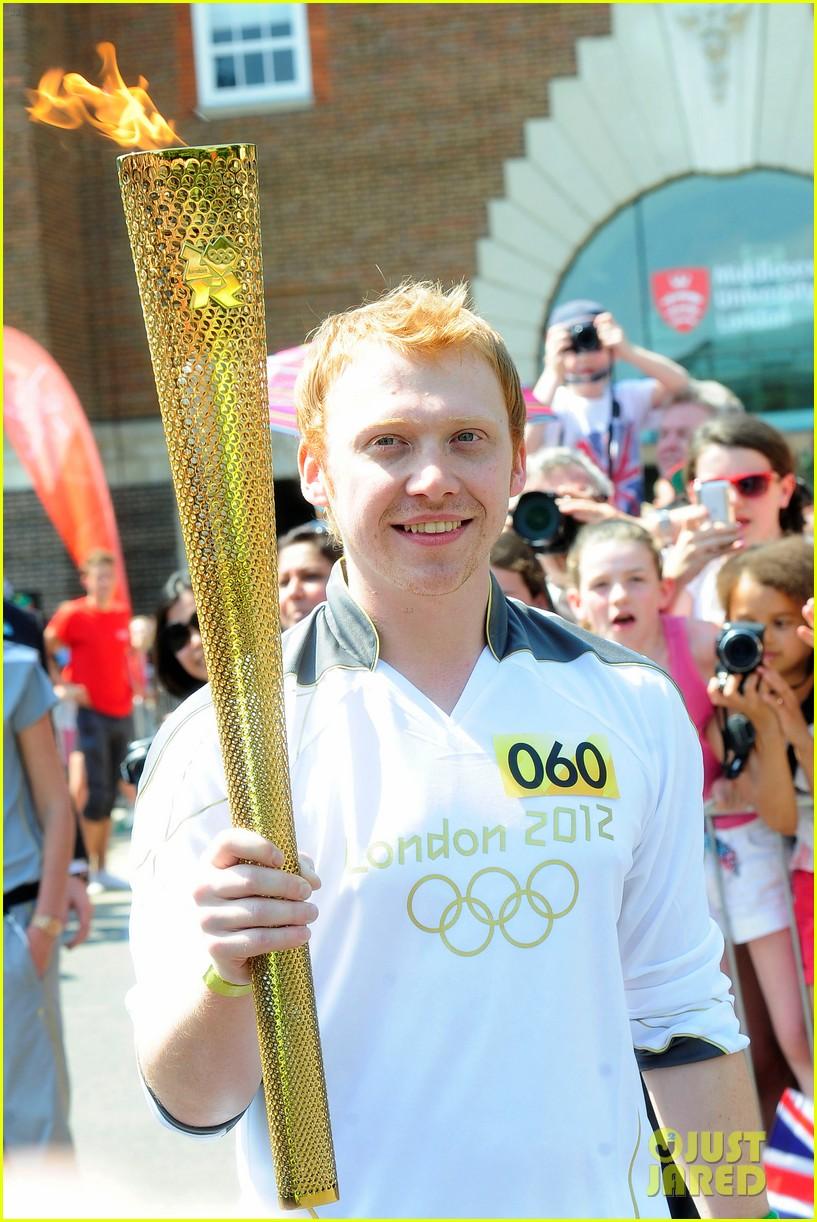 rupert grint olympics torch flame 032692173
