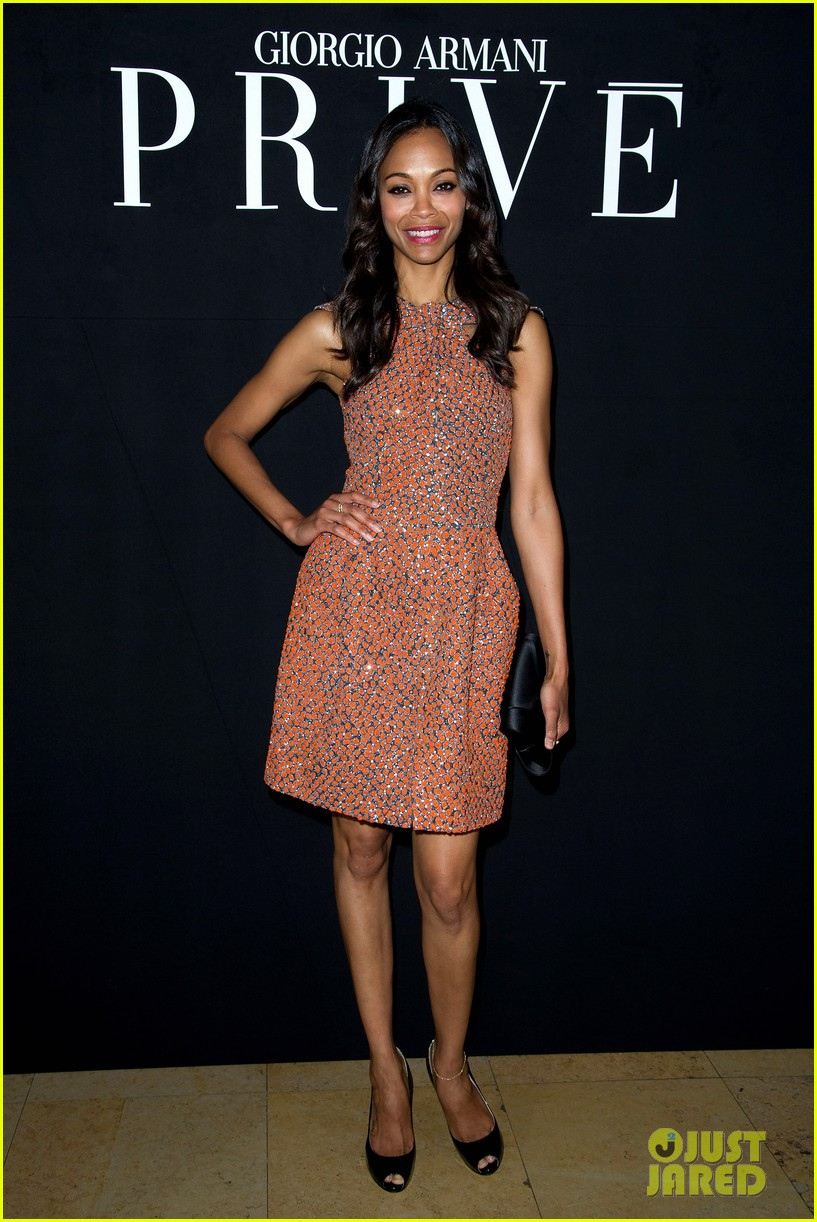 zoe saldana shailene woodley armani show 01