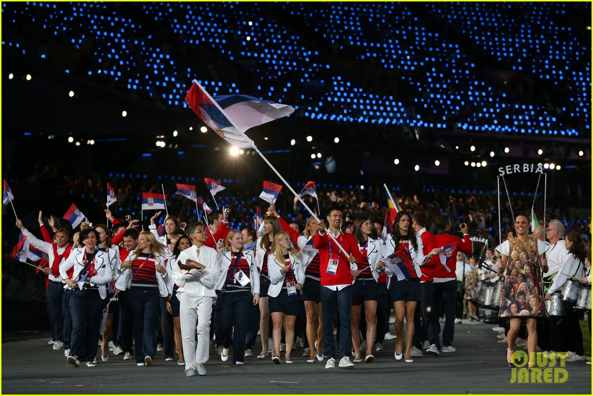 maria sharapova novak djokovic olympic flag bearers 042693068
