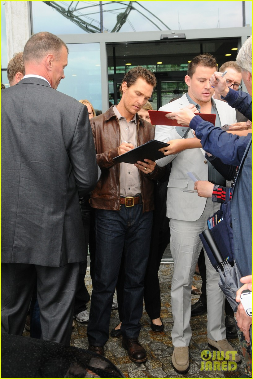 channing tatum matthew mcconaughey magic mike germany photo call 032686276