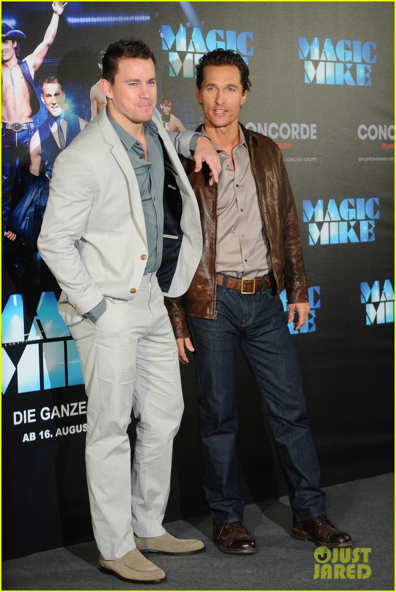 channing tatum matthew mcconaughey magic mike germany photo call 062686279