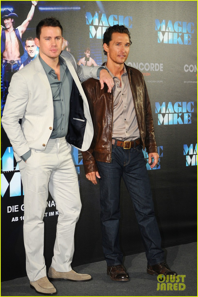 channing tatum matthew mcconaughey magic mike germany photo call 082686281
