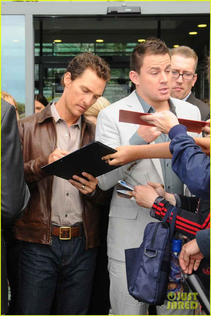 channing tatum matthew mcconaughey magic mike germany photo call 112686284