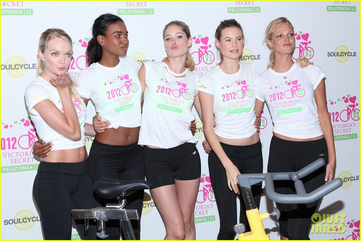 victorias secret angels soulcycle for cancer research 11