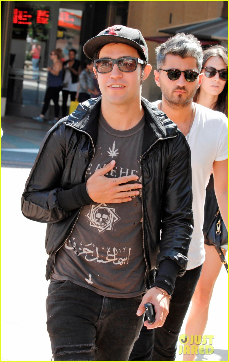 pete wentz meagan camper lunch with shawn pyfrom 022683302
