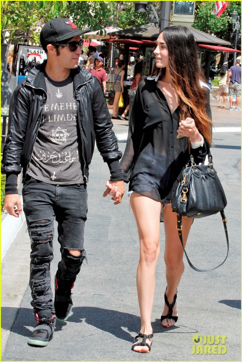 pete wentz meagan camper lunch with shawn pyfrom 112683311