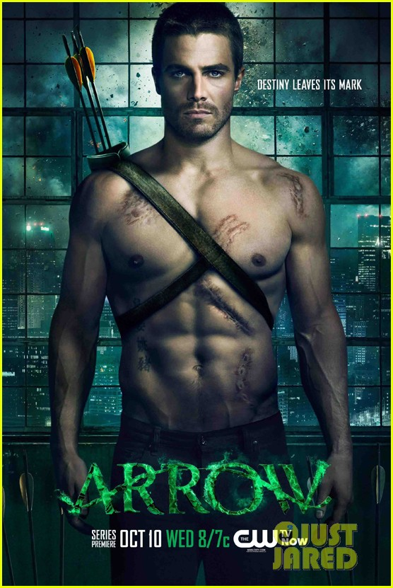 stephen amell shirtless arrow poster 012703195