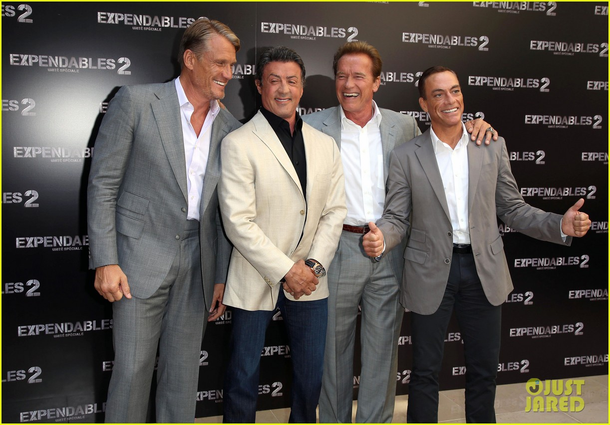 arnold schwarzenegger sylvester stallon expendables 2 paris photo call 192699668