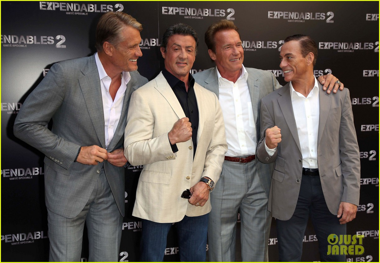 arnold schwarzenegger sylvester stallon expendables 2 paris photo call 212699670