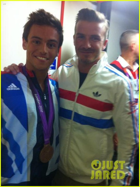 david beckham olympics celebration with tom daley 042701268