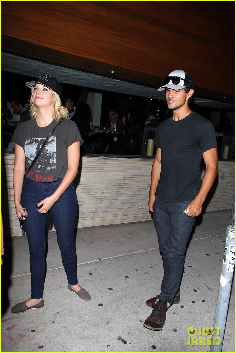 taylor lautner ashley benson red o dinner duo 122699511