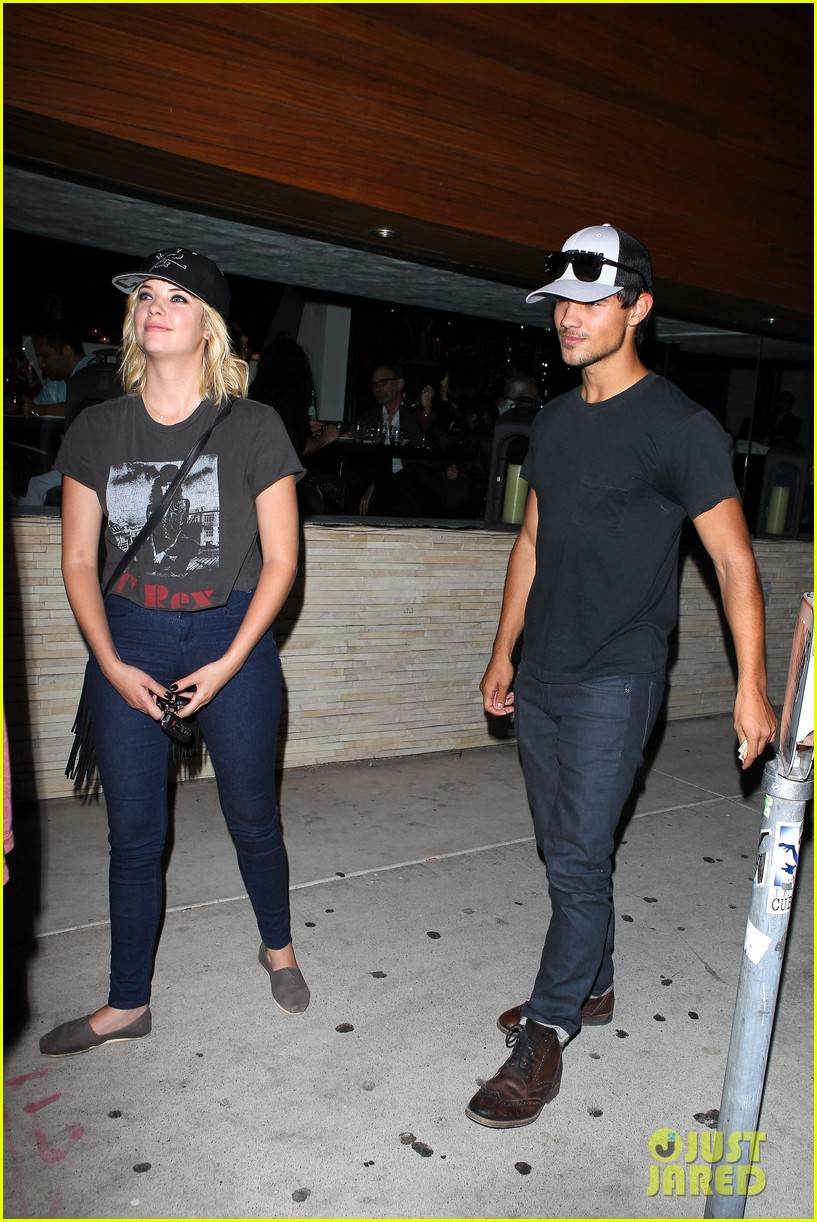 taylor lautner ashley benson red o dinner duo 142699513
