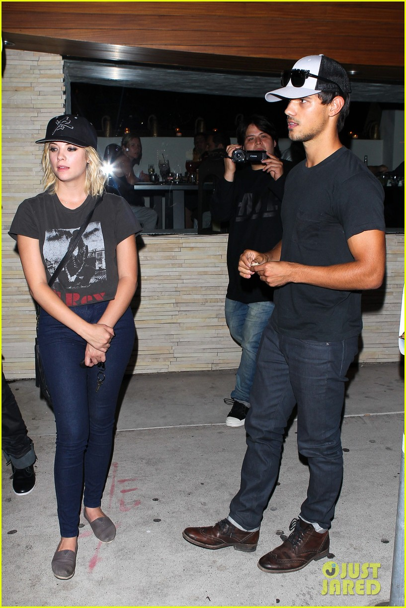 taylor lautner ashley benson red o dinner duo 212699520