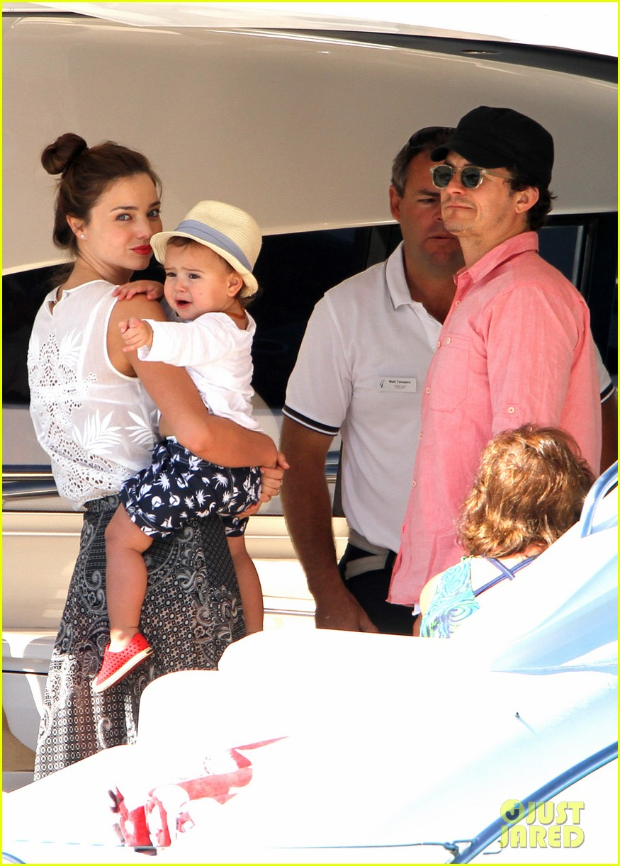 miranda kerr orlando bloom yachting 012697238