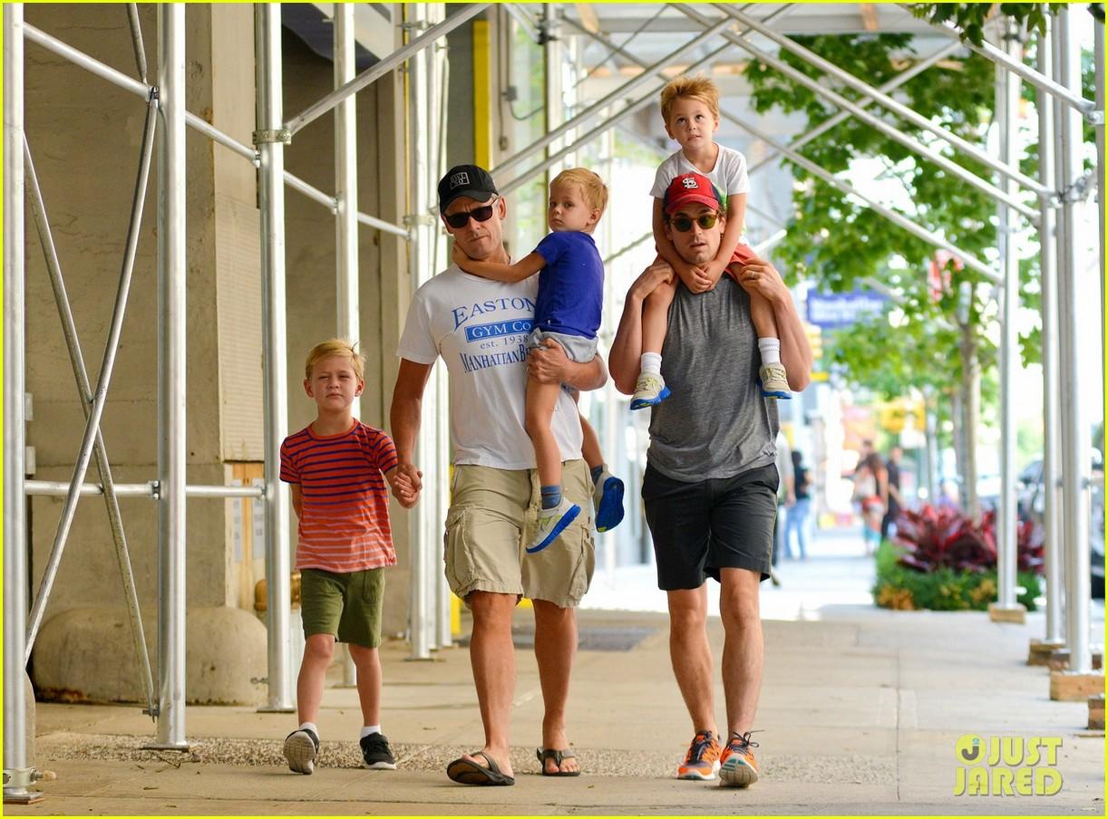matt bomer family stroll 032695807
