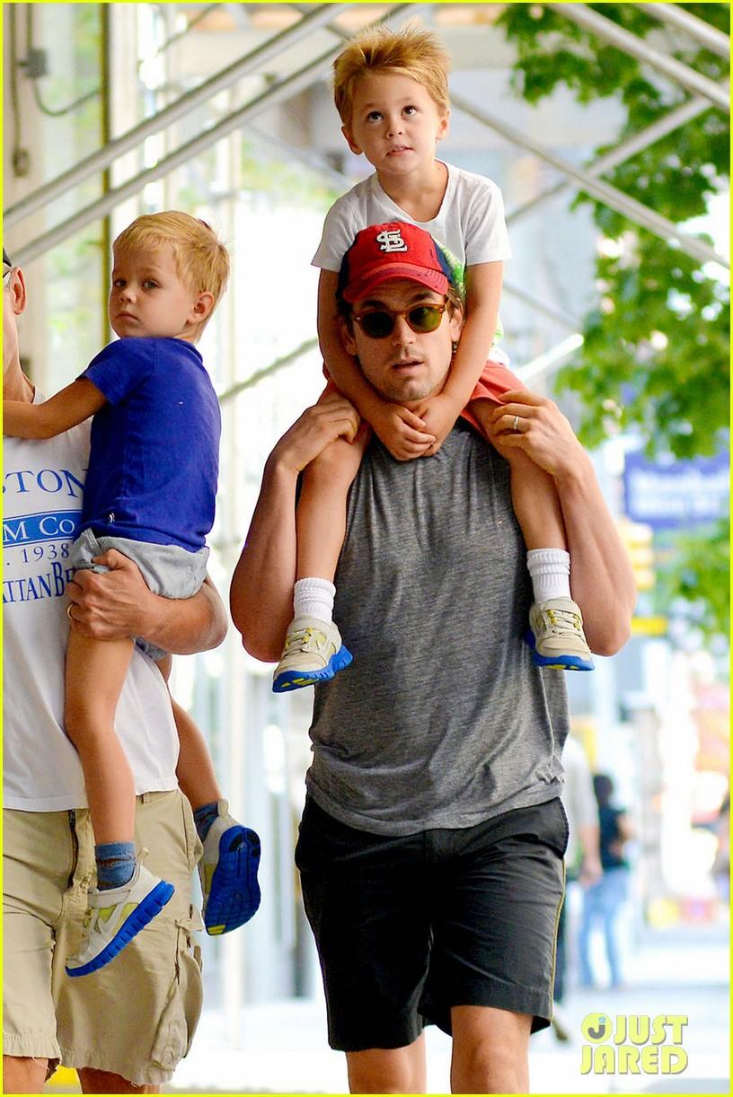 Matt Bomer Family Stroll With Kit Henry Walker Photo 2695808