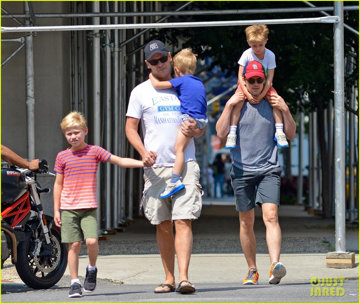 matt bomer family stroll 052695809