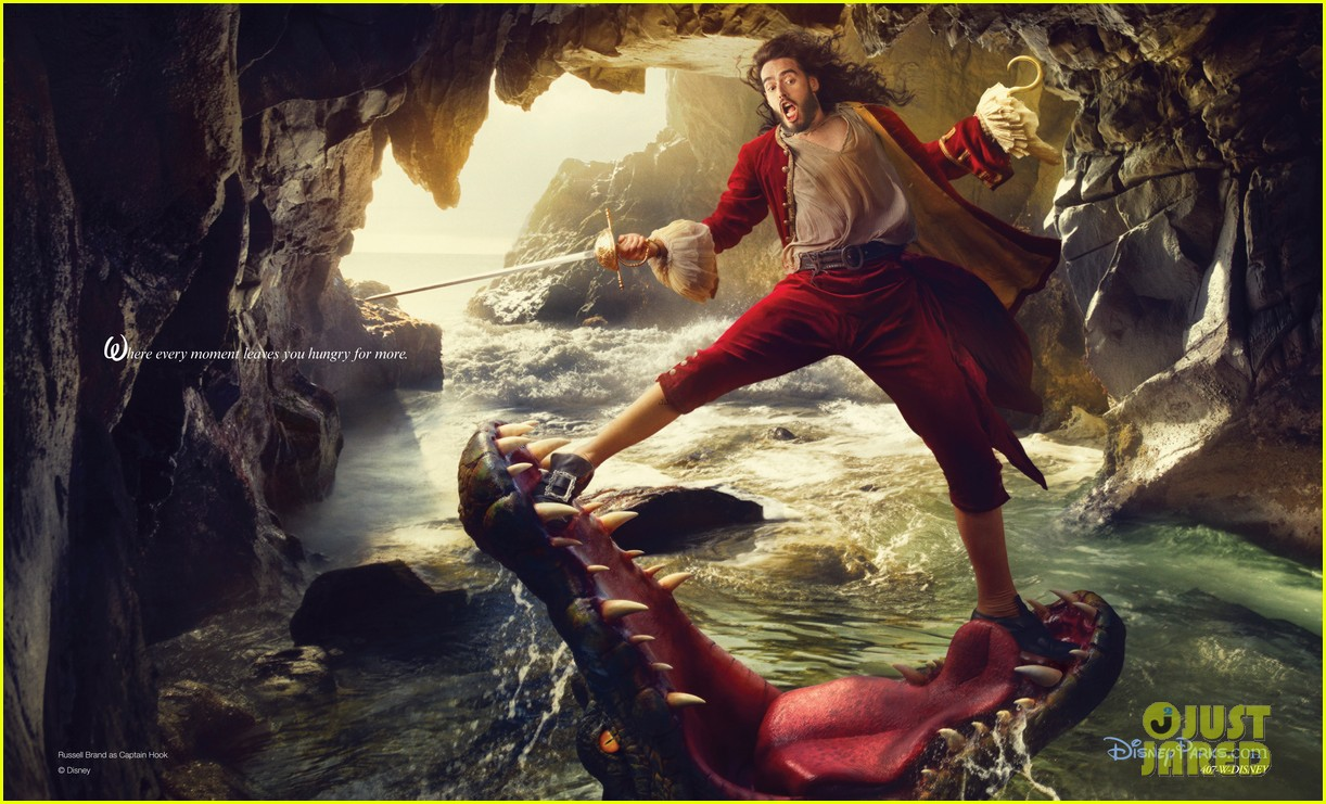 russell brand captain hook for disney parks ad campaign 02
