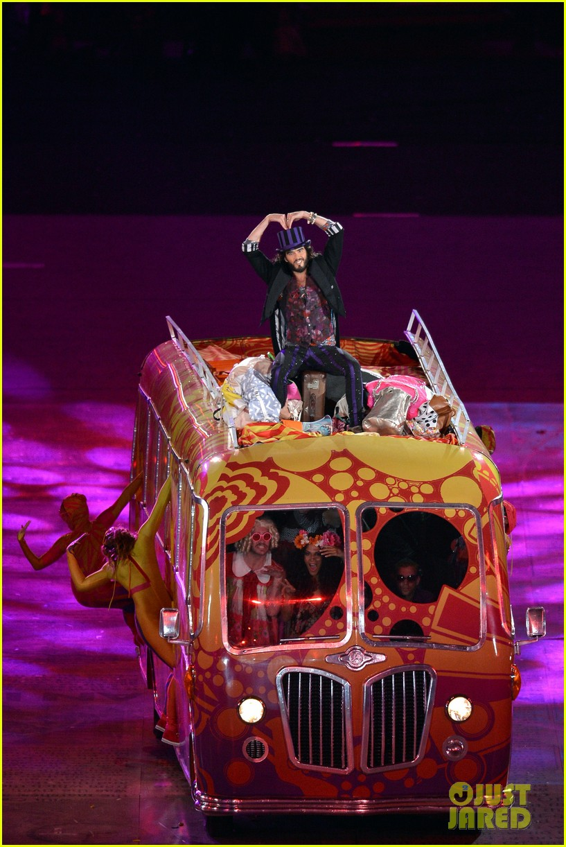 russell brand george michael olympic closing ceremony 012700851