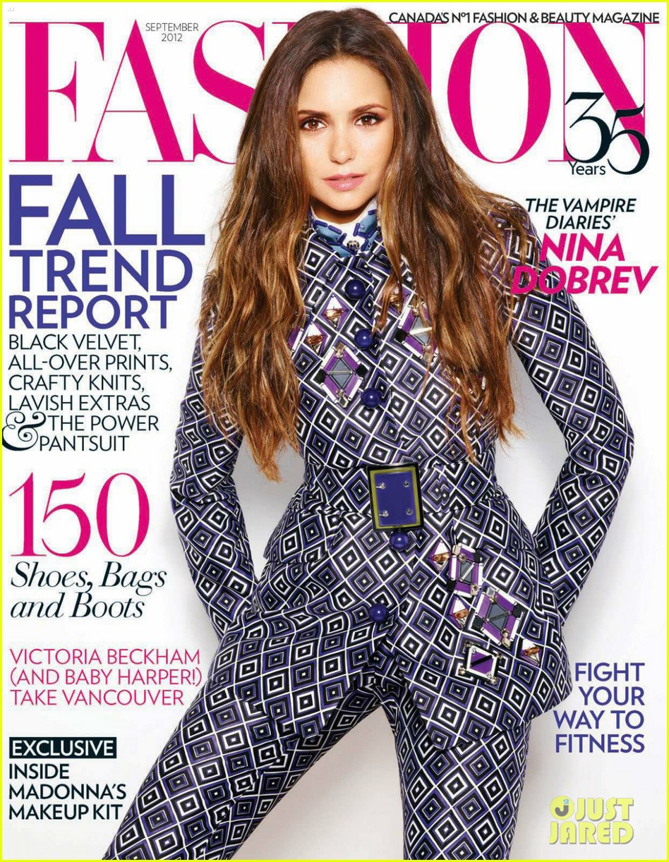 Nina Dobrev: 'Fashion' Magazine Cover Girl!: Photo 2705259