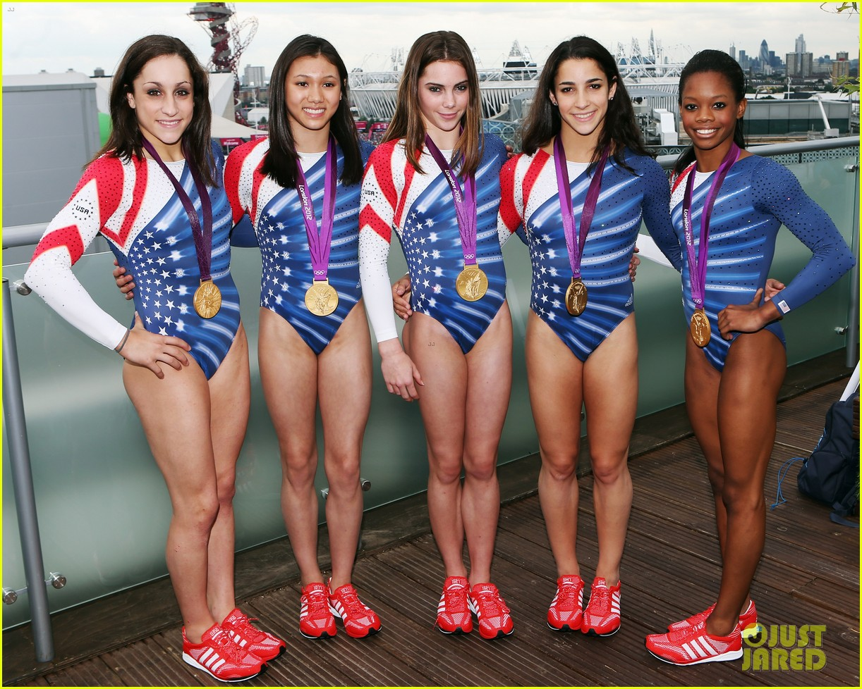 fab five celebrate olympic medals at adidas lounge 032698831