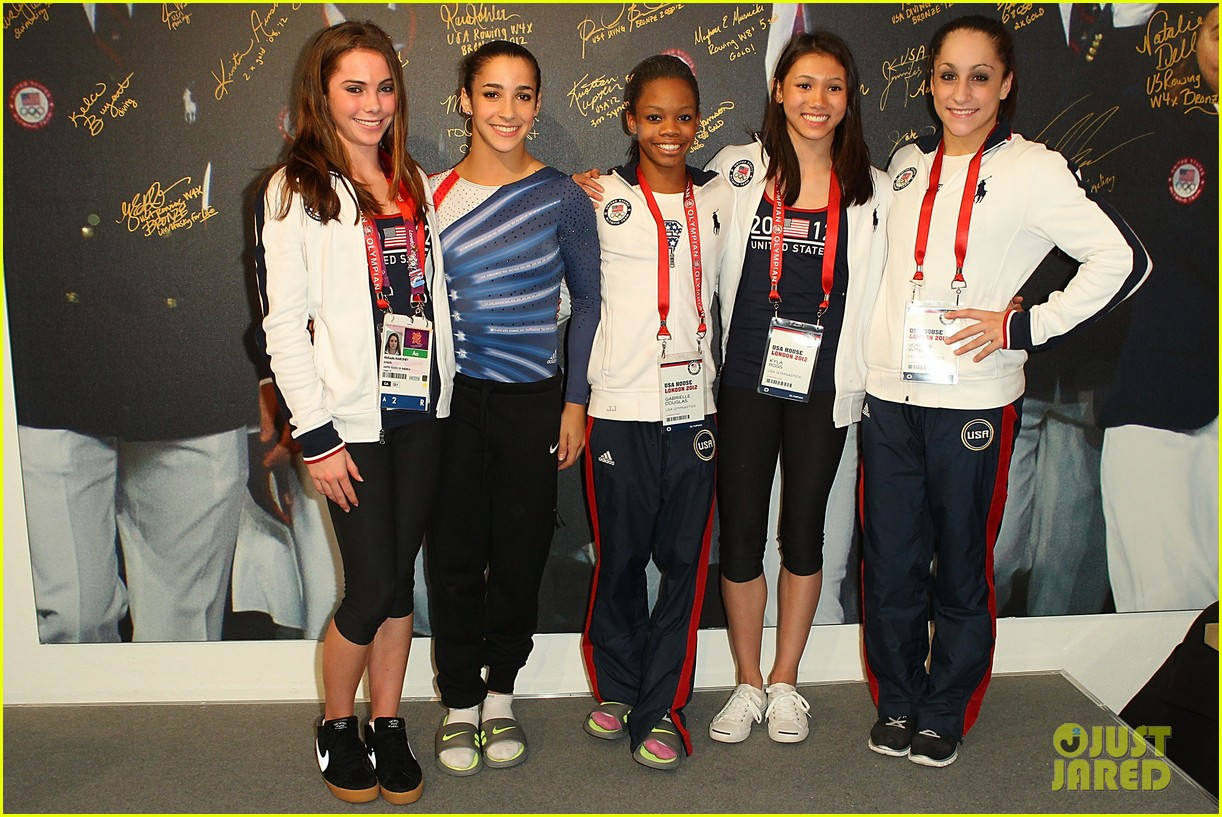 fab five celebrate olympic medals at adidas lounge 052698833