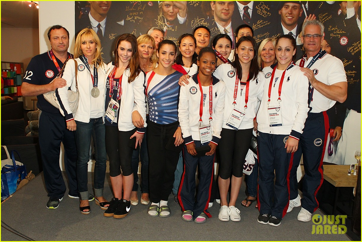 fab five celebrate olympic medals at adidas lounge 182698846