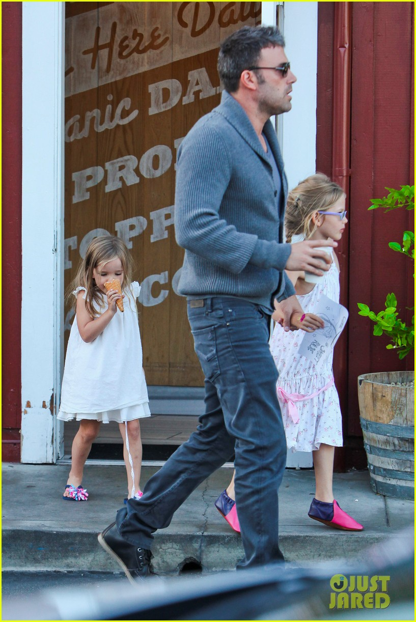 jennifer garner ben affleck ice cream kids 032709315