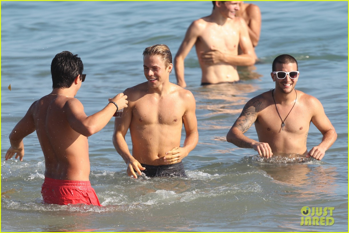 derek hough mark ballas shirtless beach day 032711257