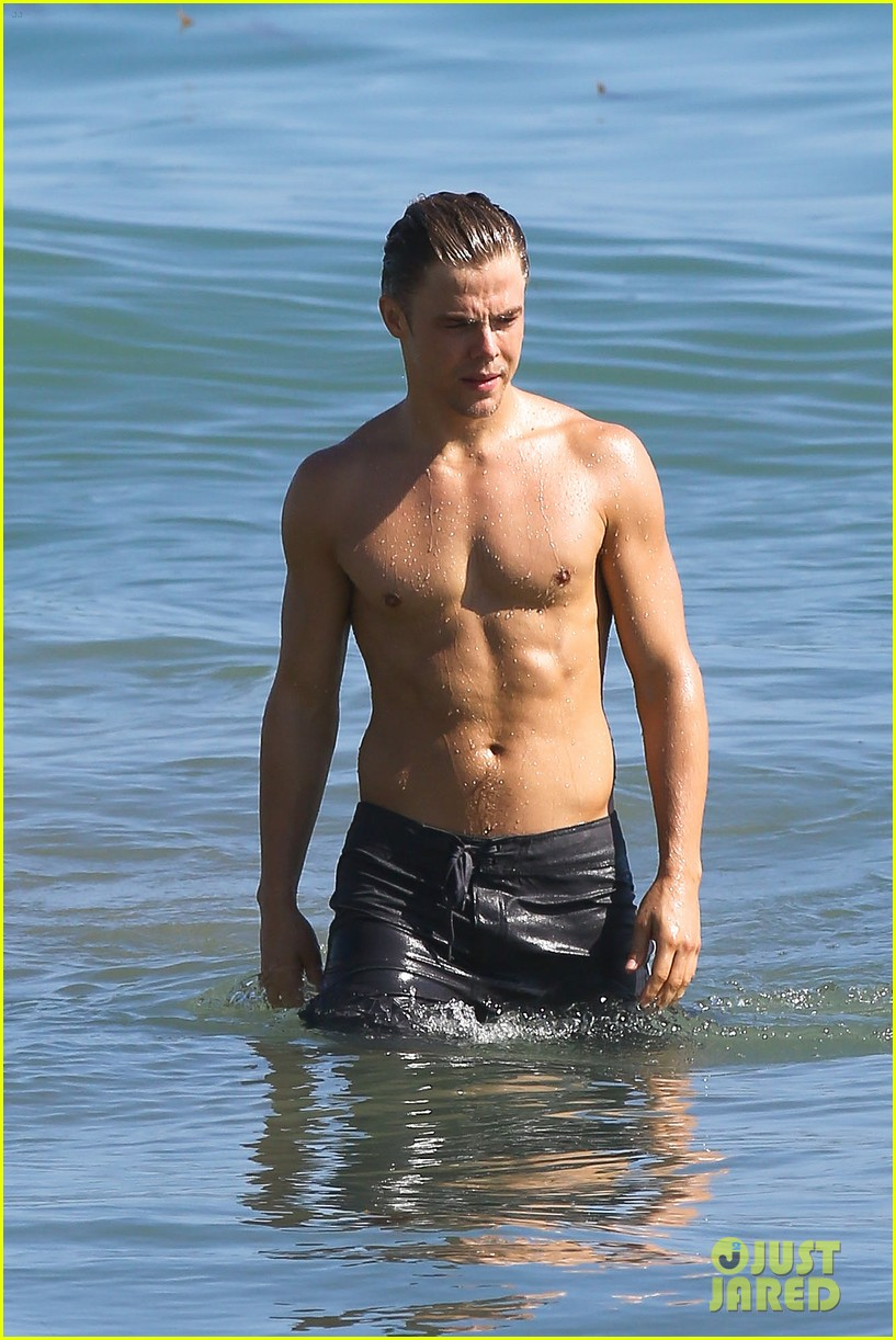 derek hough mark ballas shirtless beach day 09
