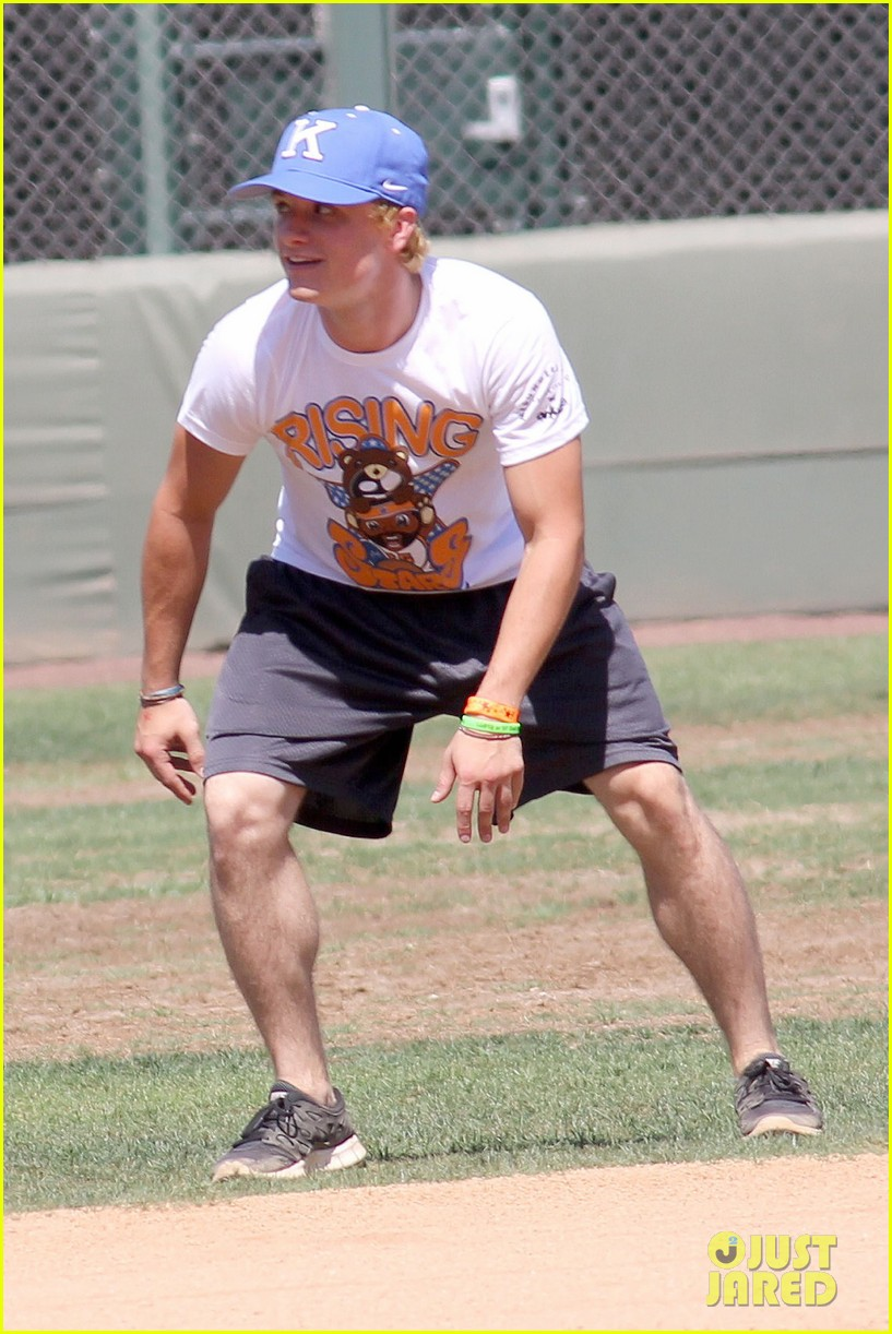 josh hutcherson celebrity charity kickball game 022700568
