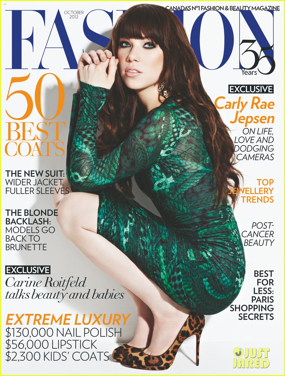 carly rae jepsen covers fashion magazine october 2012 012709756