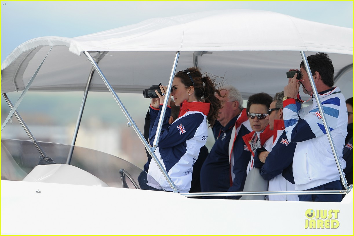 duchess kate womens laser radials at the olympics 272697750