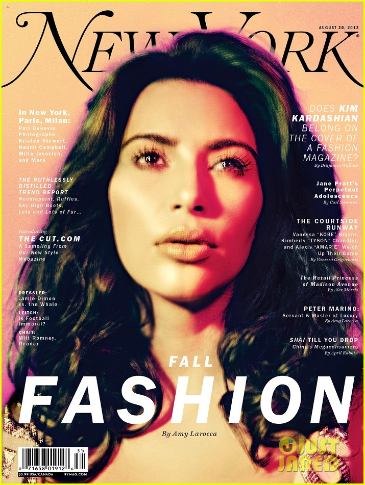 Kim Kardashian Covers 39 New York 39 Magazine 39 S Fashion Issue