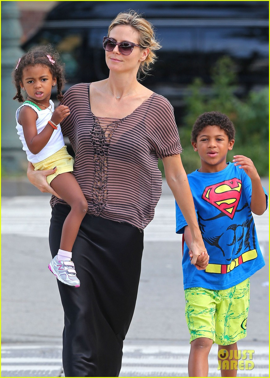 heidi klum lunch with kids 07