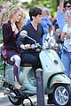blake lively penn badgley vespa riders for gossip girl 01