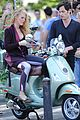 blake lively penn badgley vespa riders for gossip girl 08