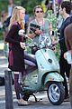 blake lively penn badgley vespa riders for gossip girl 10