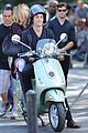 blake lively penn badgley vespa riders for gossip girl 15