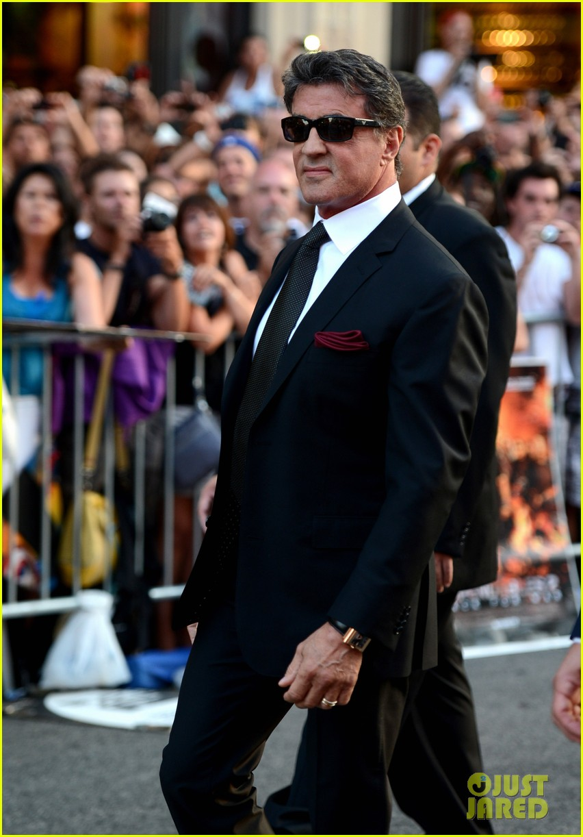 ryan lochte expendables 2 premiere with sylvester stallone 082702871