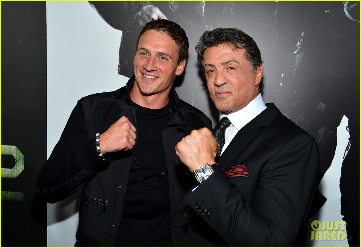 ryan lochte expendables 2 premiere with sylvester stallone 392702902