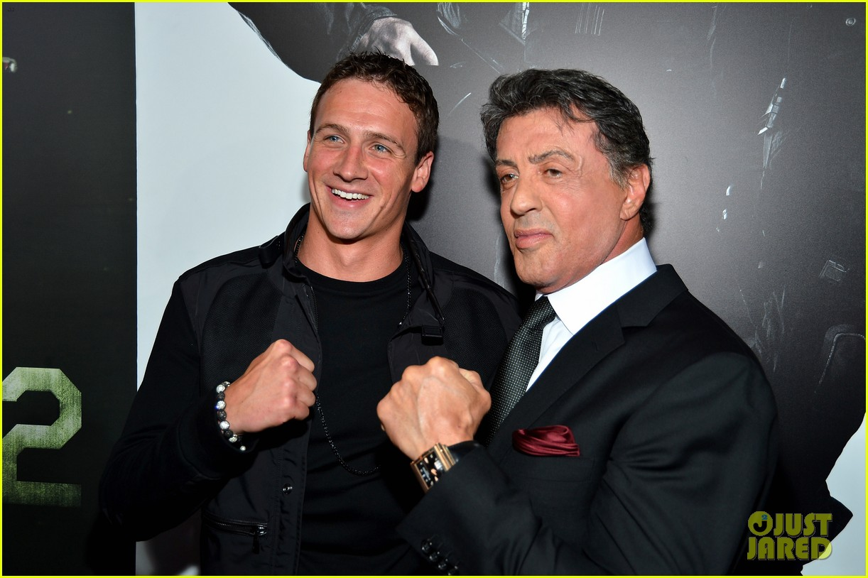 ryan lochte expendables 2 premiere with sylvester stallone 462702909