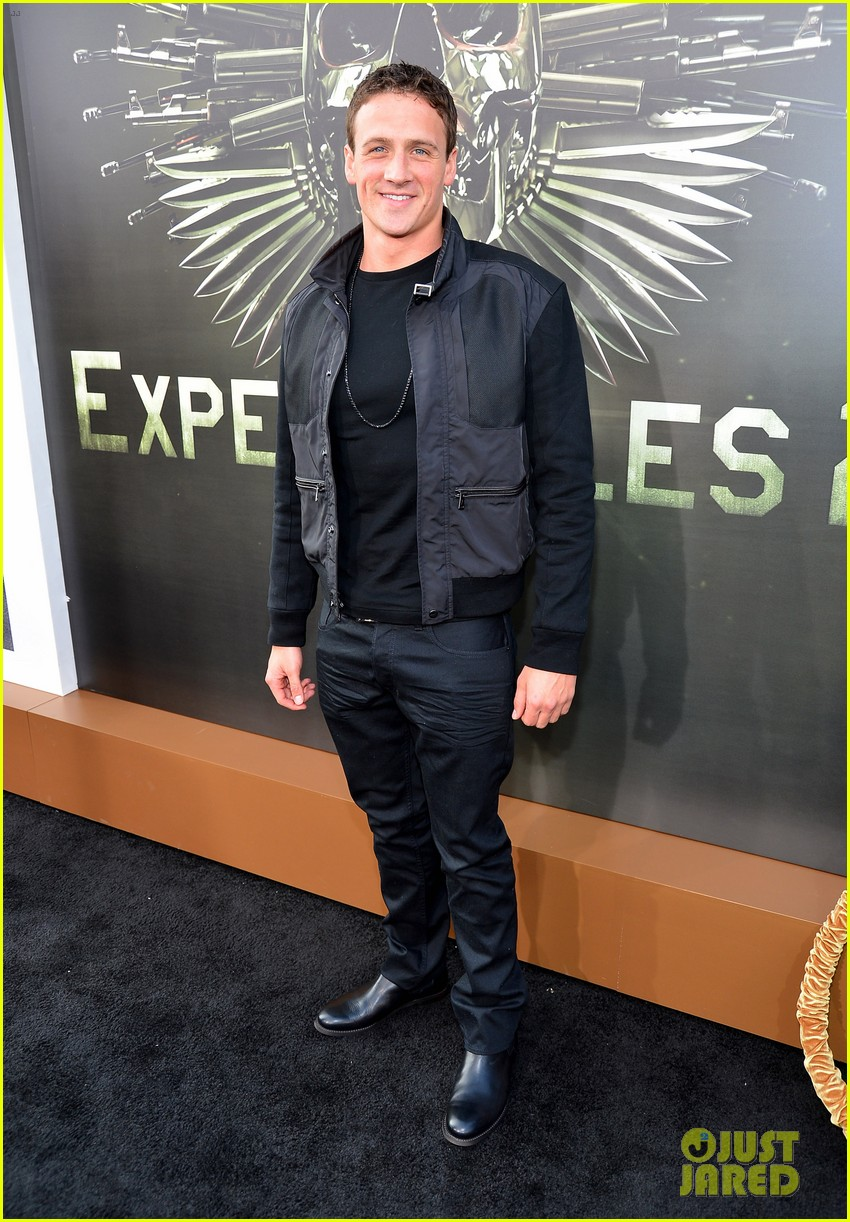 ryan lochte expendables 2 premiere with sylvester stallone 532702916