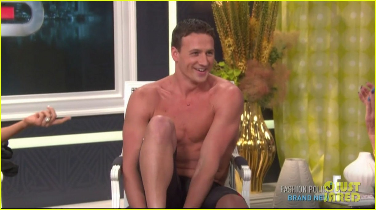 ryan lochte goes shirtless on fashion police 02