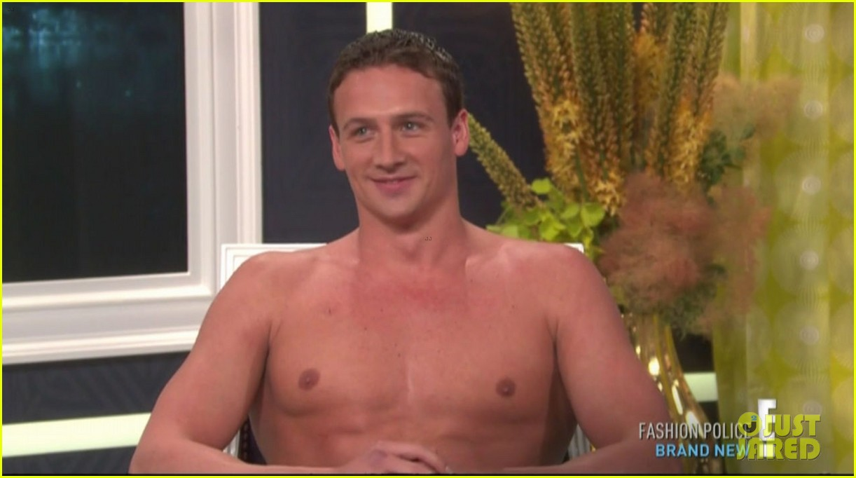 ryan lochte goes shirtless on fashion police 032709199